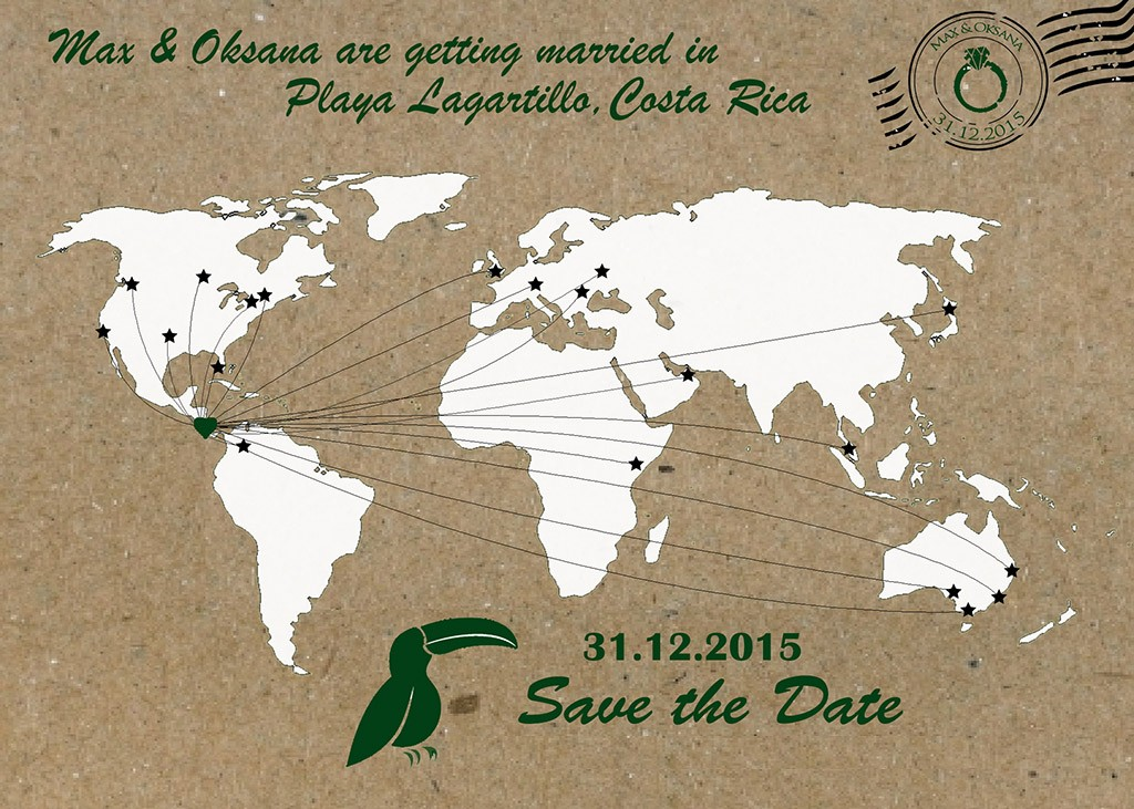 Save the Date. Wedding. Costa Rica