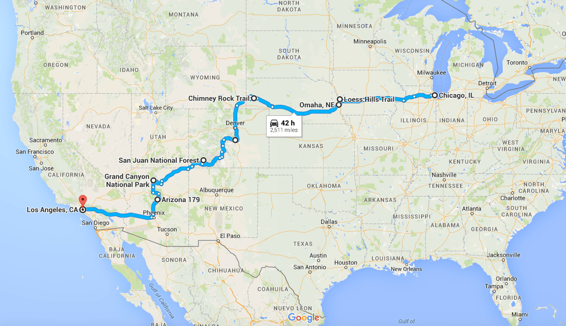 Our US Road Trip: Chicago to Los Angeles
