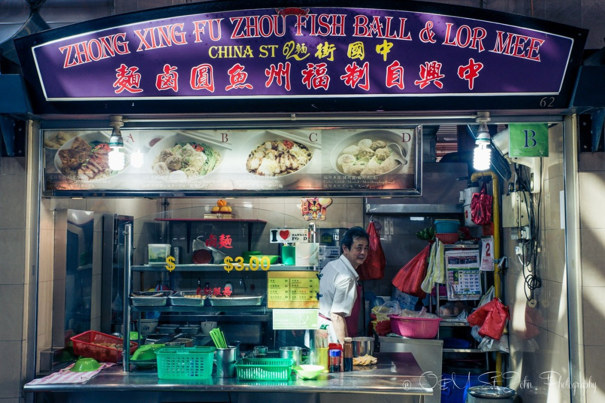 Hawker Stall in Singapore's Chinatown Complex. Singapore on a budget