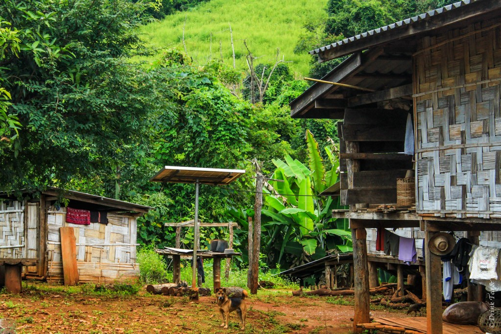 One of the houses in the Lahu hill tribe village