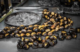 Roasted chestnuts (kestane) in Istanbul, Turkey
