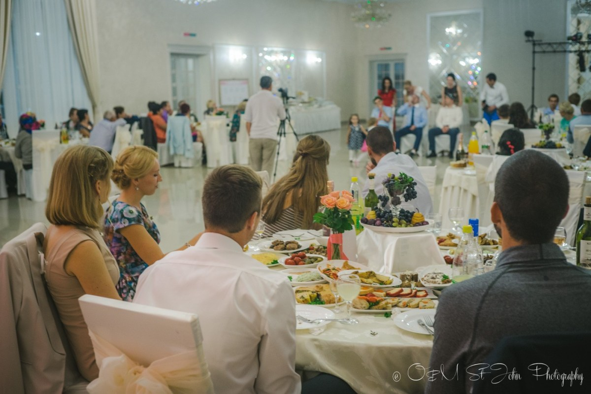 Games and entertainment at cousin's wedding in Ukraine