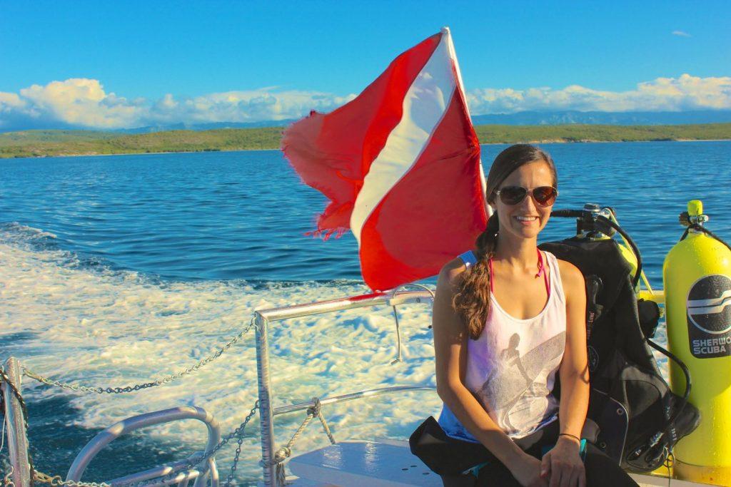 Angela Orecchio from the Yachtie Glow. Photo courtesy of The Yachtie Glow