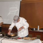 Cooking demonstration with chef Alex