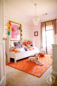 Pink and Orange for a Girl's Bedroom | Driven by Decor