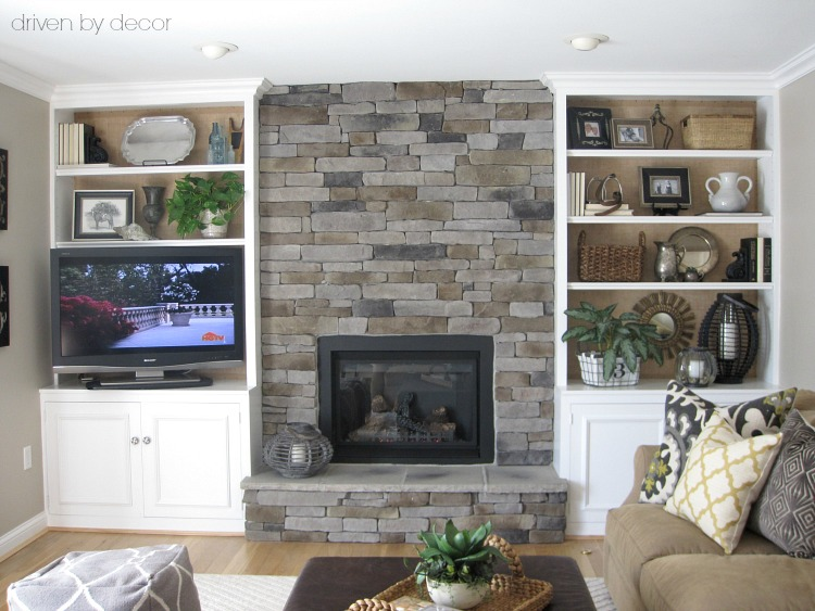 Transforming a Fireplace and Built-in Bookcases Driven by Decor