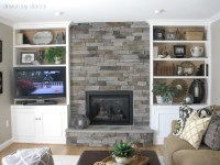 Transforming a Fireplace and Built-in Bookcases | Driven ...