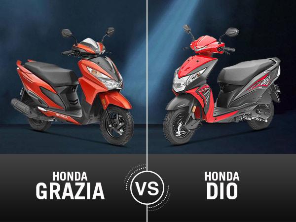 Honda Grazia Vs Honda Dio Comparison On Specifications, Features