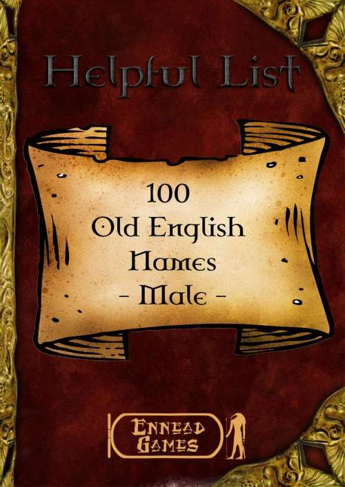 Medium Of Old English Male Names