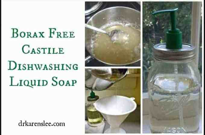 Borax Free Castile SOAP Dishwashing Liquid Formula