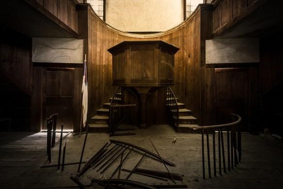 broken down pulpit