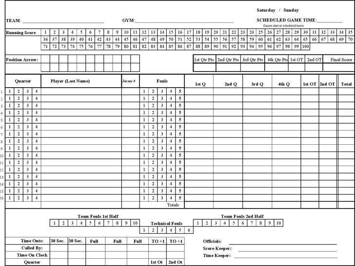 football score sheet printable