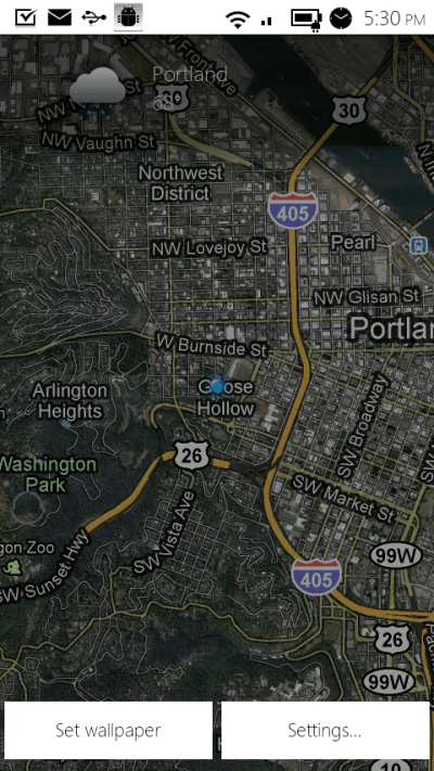 Google Maps 4.5.1 Update Includes Live Wallpaper with Weather | Droid Life