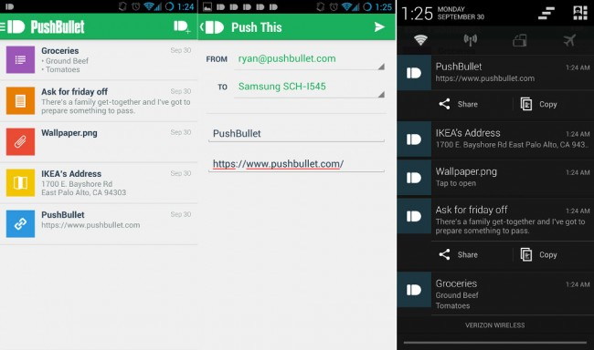pushbullet new