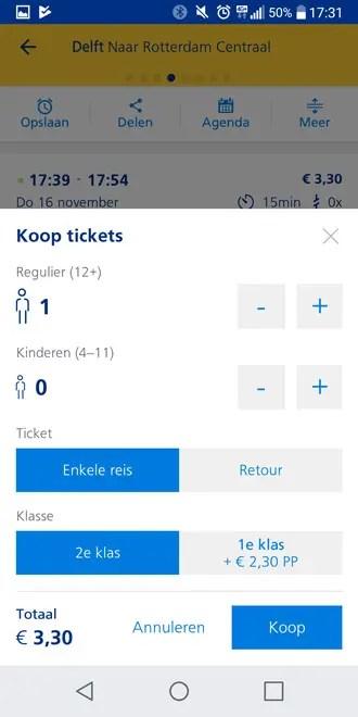 NS Reisplanner Xtra laat je nu via de app e-tickets kopen voor je
