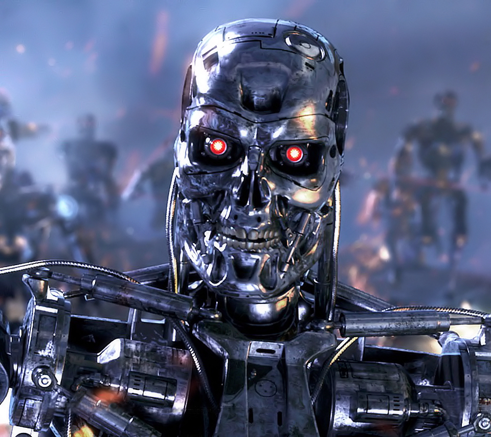 3d Wallpaper For Droid Terminator Endoskeleton Wallpaper Www Pixshark Com