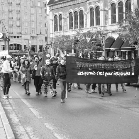 Manifestation du 27 octobre dernier. Photo: Nicolas Lefebvre-Legault