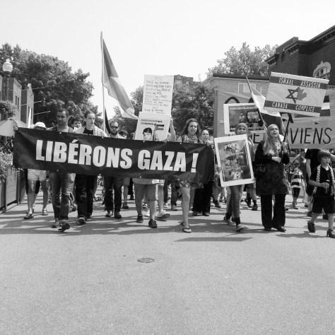 Manif en solidarité avec la Palestine le 3 août. Photo: Nicolas Lefebvre-Legault