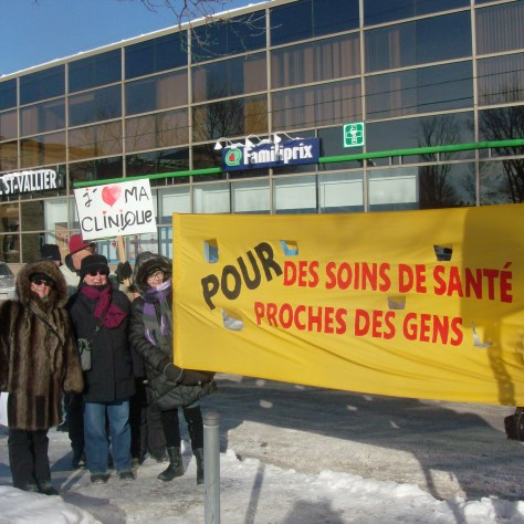 Manifestation du 17 janvier dernier pour sauver le sans rendez-vous de la clinique médicale Saint-Vallier.