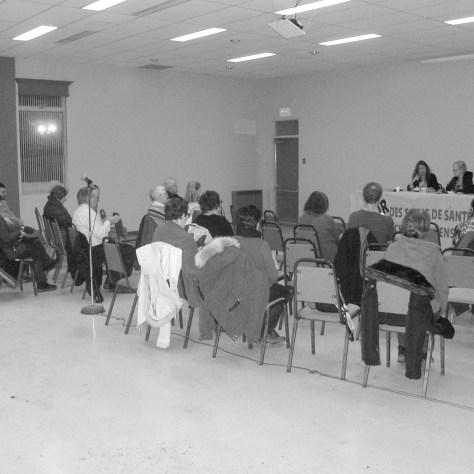 Assemblée publique le 3 mars dernier dans le quartier Saint-Sauveur. Photo: Marc Boutin