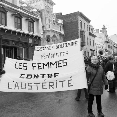 Marche du 8 mars à Québec.