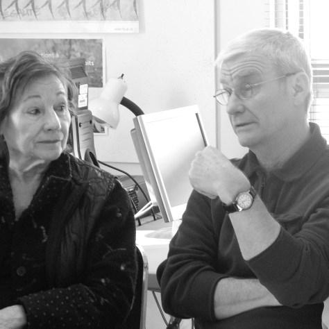 Céline Lapointe et Michael Parrish lors de la conférence de presse au CCCQSS.  PHOTO Ronald Lachapelle
