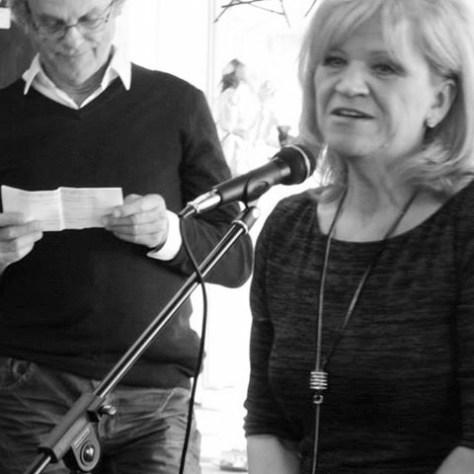 au lancement du livre à Sherpa, Fabienne, conjointe de Richard Langlois..