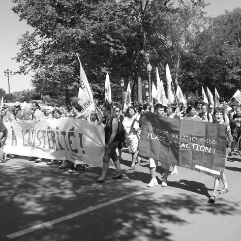 Manifestation du 3 septembre à Québec pour revendiquer plus de justice fiscale.