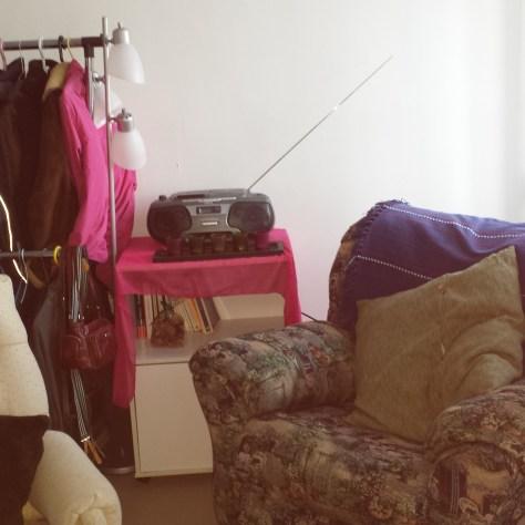 Le salon de L.U.N.E, le drop-in pour femmes au centre-ville de Québec. «photo: courtoisie