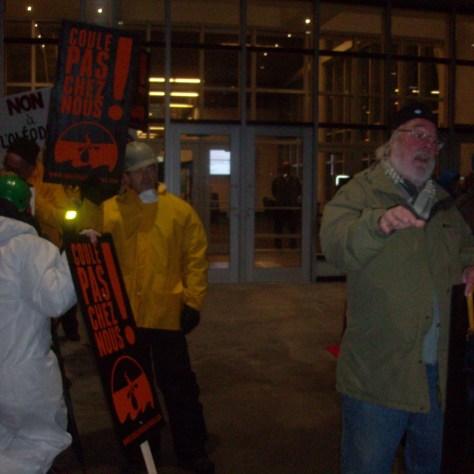 Normand Lemire parmi les manifestants