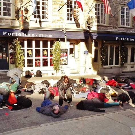flash mob des groupes communautaires le 1er décembre 2015
