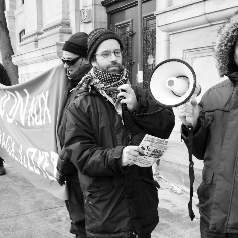 Manifestation à Québec, le 20 janvier dernier. Photo: Nicolas Phébus