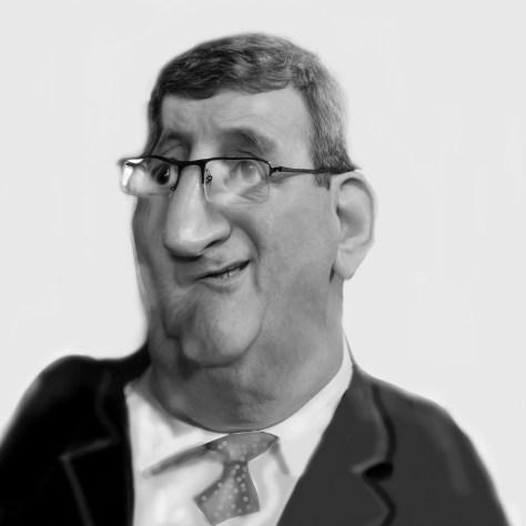 Caricature de Régis Labeaume faite par Mercader.
