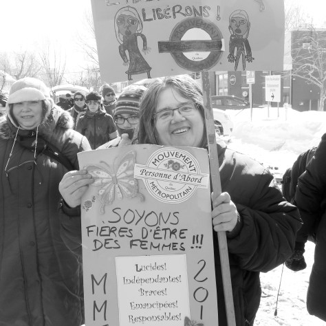 Marche pour souligner la Journée internationale des femmes. Photo: typhaine Leclerc-Sobry