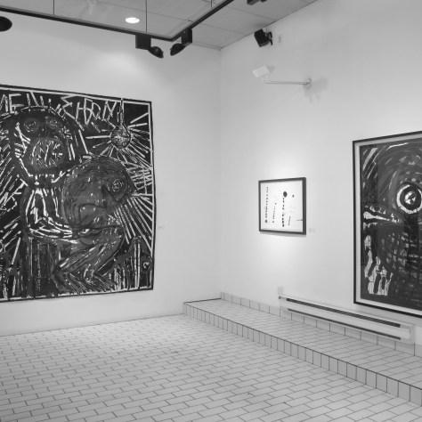 Vue de l'exposition des oeuvres de Daniel Erban chez Lacerte. Photo: courtoisie.