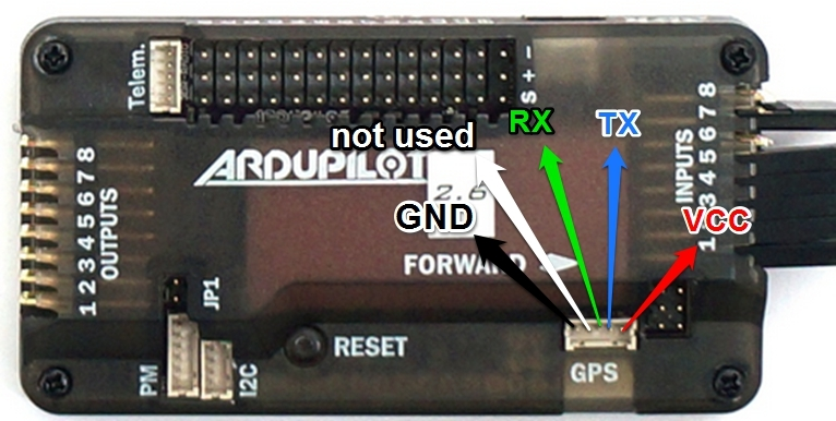 Connecting Ublox Neo GPS to APM - Guides - DroneTrest