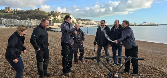 First Quad-Copter to fly across the English Channel