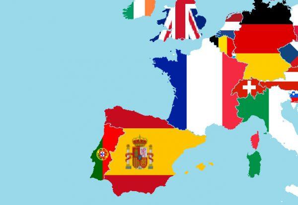 Spanje-Duitsland-Belgie-Frankrijk