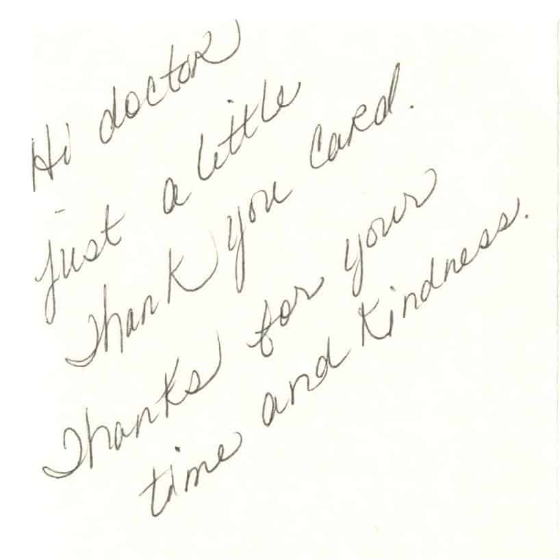 Thank You Letter To Doctor ccfr thank you letters letter to doctor