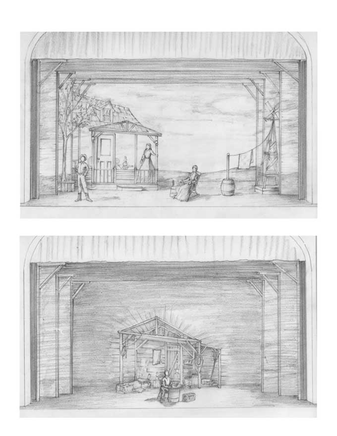 Oklahoma  Storyboard Drawings 2 Set Scene Stage Pinterest - movie storyboard