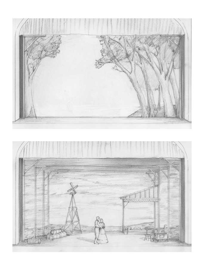 Oklahoma  Storyboard Drawings 2 Set Scene Stage Pinterest - vertical storyboard