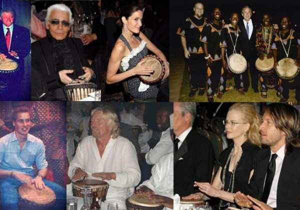 Drumming with Celebrities