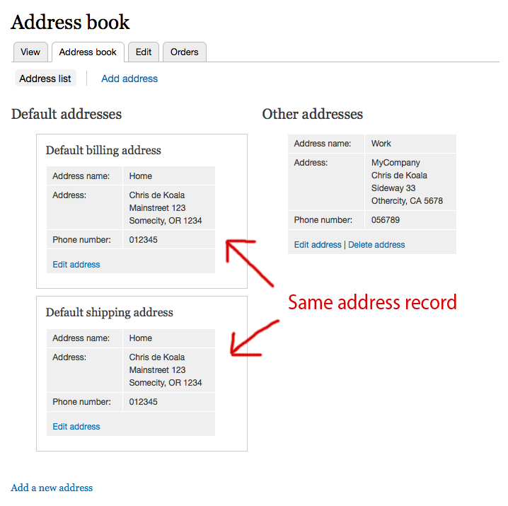 Redesign the address book page using Views #1433034 Drupalorg