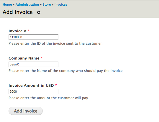Commerce Invoices Drupalorg