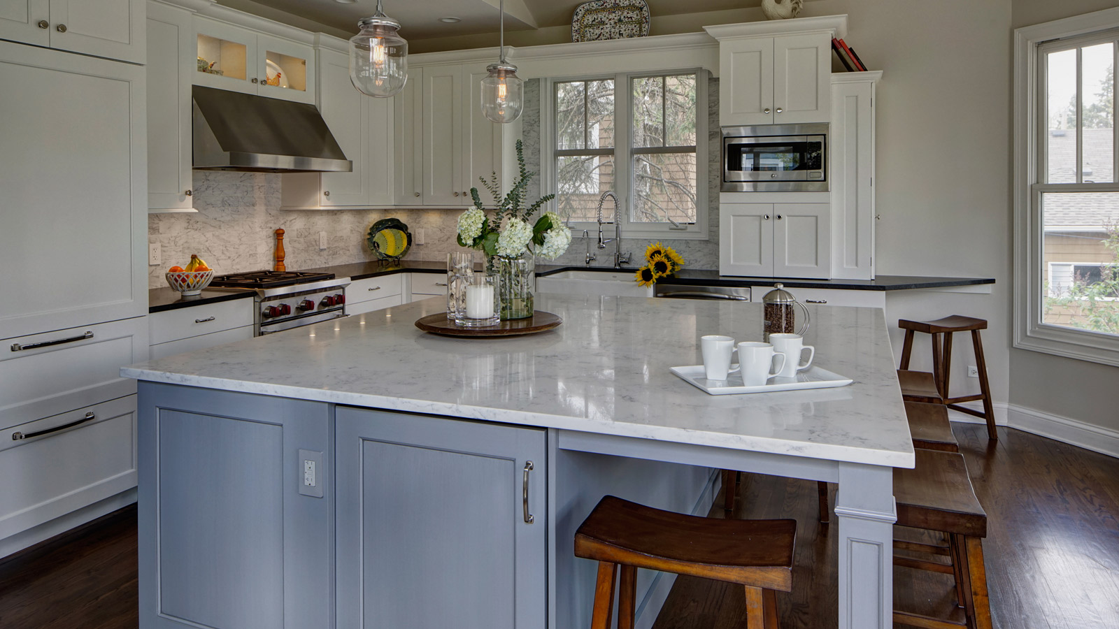 1600 x 900 Classically Inspired Traditional Kitchen Design Lombard drury design