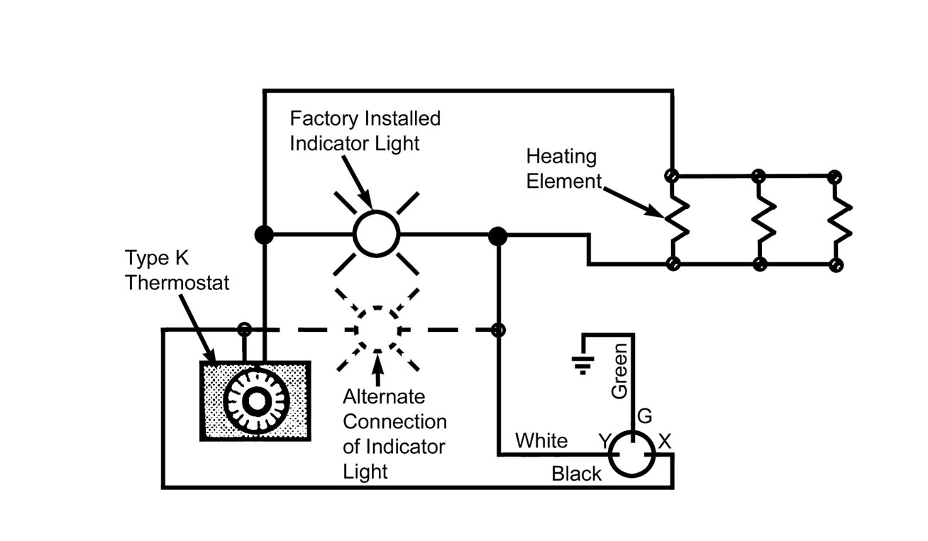 electric oven element wiring diagram