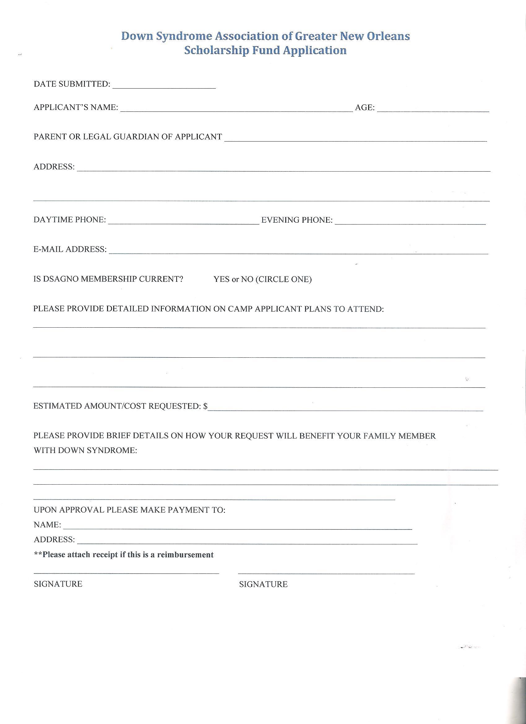 Blank summer job resume form