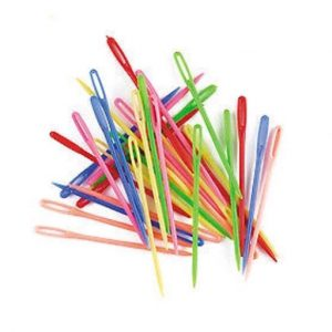 Plastic horse plaiting needles
