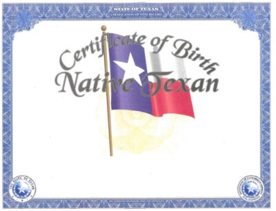 Texas Vital Statistics \u2013 Heirloom Birth Certificates