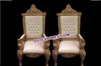 Royal look Wedding maharaja King & Queen chairs